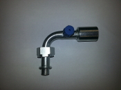 #10 Hose Female 90° Tube-O(Steel Standard)(R134a Service Port)